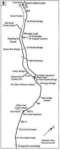 Agecroft to Clifton map